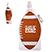 16 oz. Football Collapsible Water Bottle - Mugs Drinkware