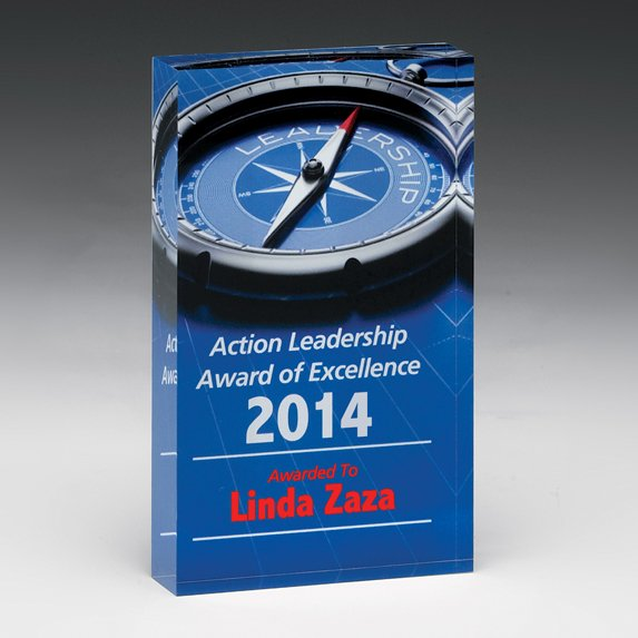 Powerful Promo Paperweight - Awards Motivation Gifts