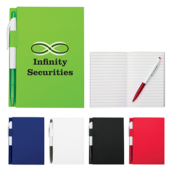Noteworthy Note Pad With Pen - Padfolios, Journals & Jotters