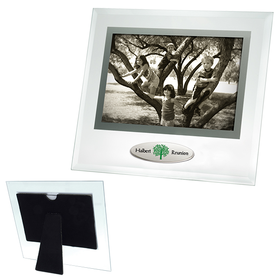 Beveled Glass Frame with Accent - Awards Motivation Gifts