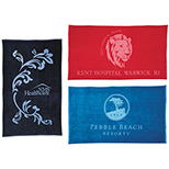 Twill Hemmed Velour Beach Towel