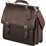 Kenneth Cole Colombian Leather Dowel Compu-Messenger