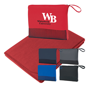 Portable Fleece Picnic Blanket With Pouch - Kitchen & Home Items