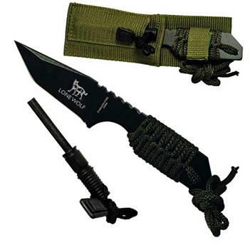 "7"" Hunting Knife and Fire Starter - Tools Knives Flashlights"