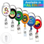 Retractable Badge Reel with Carabiner Clip