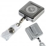 32 Solid Chrome Retractable Badge Holder