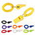 Rally Whistle with Wrist Coil - Outdoor Sports Survival