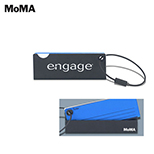 MoMA Acrylic Luggage Tag Green