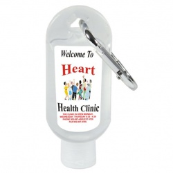 Carabiner Squeeze Sanitizer