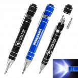Handyman Pen-Style Toolkit with Lighted Tip