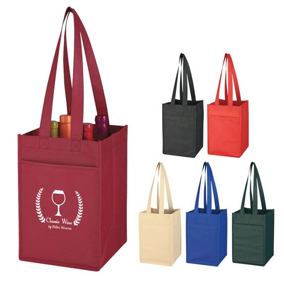 Non-Woven Wine Tote  - Bags