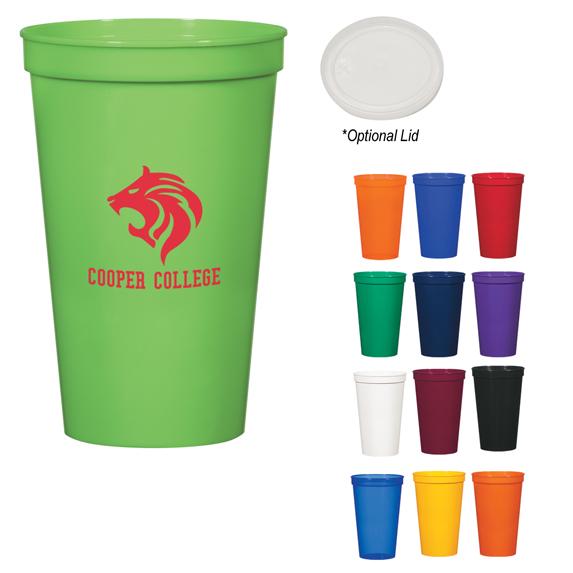 22 Oz Vibrant Stadium Cup - Mugs Drinkware