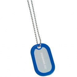 Dog Tag with Trim and Bead Chain