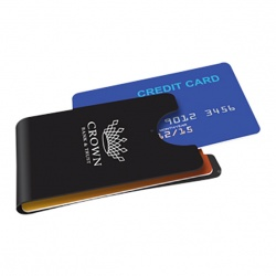 Inside-Clip Metal Card Wallet