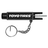 Tire Gauge on Key Ring