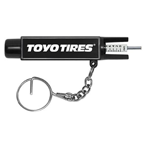 Tire Gauge on Key Ring - Tools Knives Flashlights