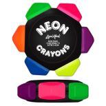 Six Color Neon Crayon Wheel