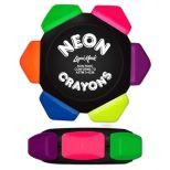 Six Color Neon Crayon Wheel