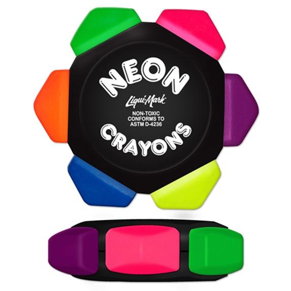 Six Color Neon Crayon Wheel - Pens Pencils Markers