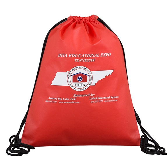 Non-Woven Drawstring Cinch Backpack - Bags
