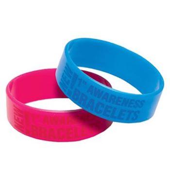 """1"""" Debossed Awareness Bracelet - Awards Motivation Gifts"""
