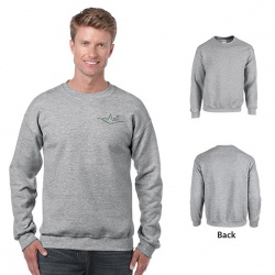 Gildan Heavy Blend Classic Fit Adult Crewneck Sweatshirt, 8 oz.- Sport Gray