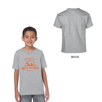 Gildan Heavy Cotton Classic Fit Youth T-Shirt, 5.3 oz. -Sport Gray - Apparel