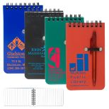 Pocket Size Jotter With Pen