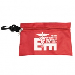 Large Zipper Pouch Bag with Hook