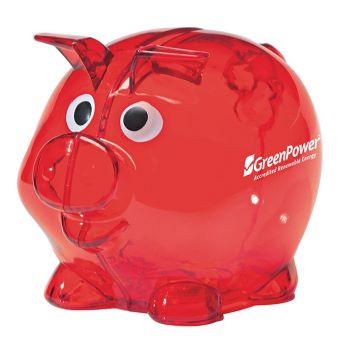 Mini Plastic Piggy Bank - Puzzles, Toys & Games