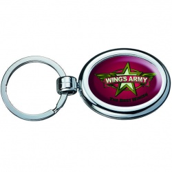 Oval Two Sided Budget Chrome Plated Domed Keytags