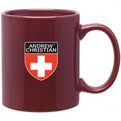 11oz. Glossy C Handle Colored Mug
