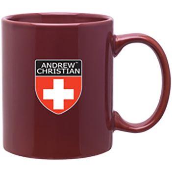 11oz. Glossy C Handle Colored Mug - Mugs Drinkware