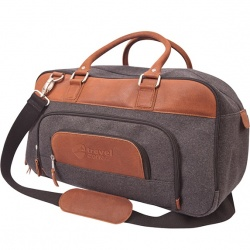 Wool Blend Duffel with Leather Trim