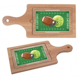 Bamboo Cheese Board with Glass Center