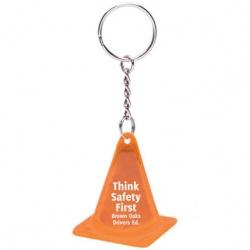 Reflective Safety Cone Keytag