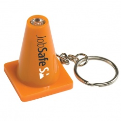 Light Up Safety Cone Keytag