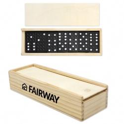 Dominoes in Wood Box