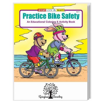 Practice Bike Safety Coloring Book - Puzzles, Toys & Games
