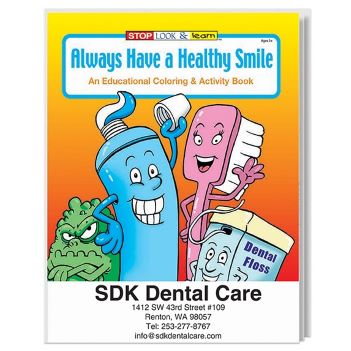 Always Have a Healthy Smile Coloring Book - Puzzles, Toys & Games