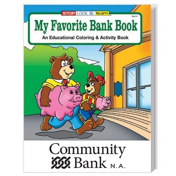 My Favorite Bank Coloring Book - Puzzles, Toys & Games