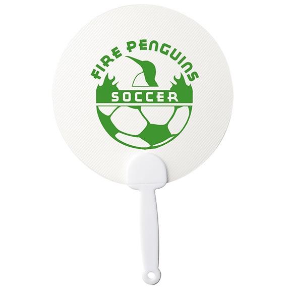Transparent Plastic Hand Fan - Outdoor Sports Survival