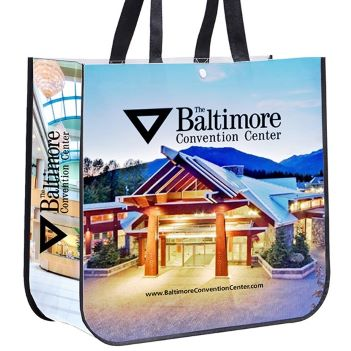 "Non-Woven Laminated, Full Color Tote Bag, 15-3/4"" x 14-1/2"" x 6-1/2"" - Bags"