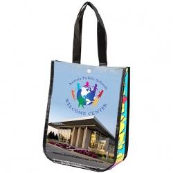 Non-Woven Laminated, Full Color Tote Bag, 9-1/4 x 12 x 4-1/2