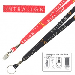 1/2 Textured Poly Dye Sublimated Full Color Lanyard