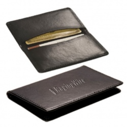 Bonded Leather Cowhide Card Case
