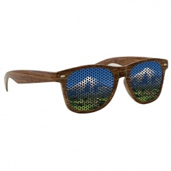 Lenstek Wood Grain Miami Sunglasses