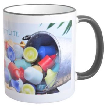 Full Color 11 Oz. Mug with Colored Accents - Mugs Drinkware