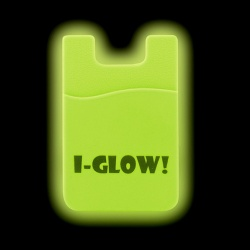 Glow-n-the-Dark Silicone Phone Wallet