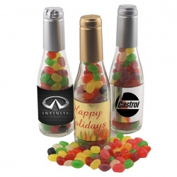 Small Champagne Bottle with Jelly Beans